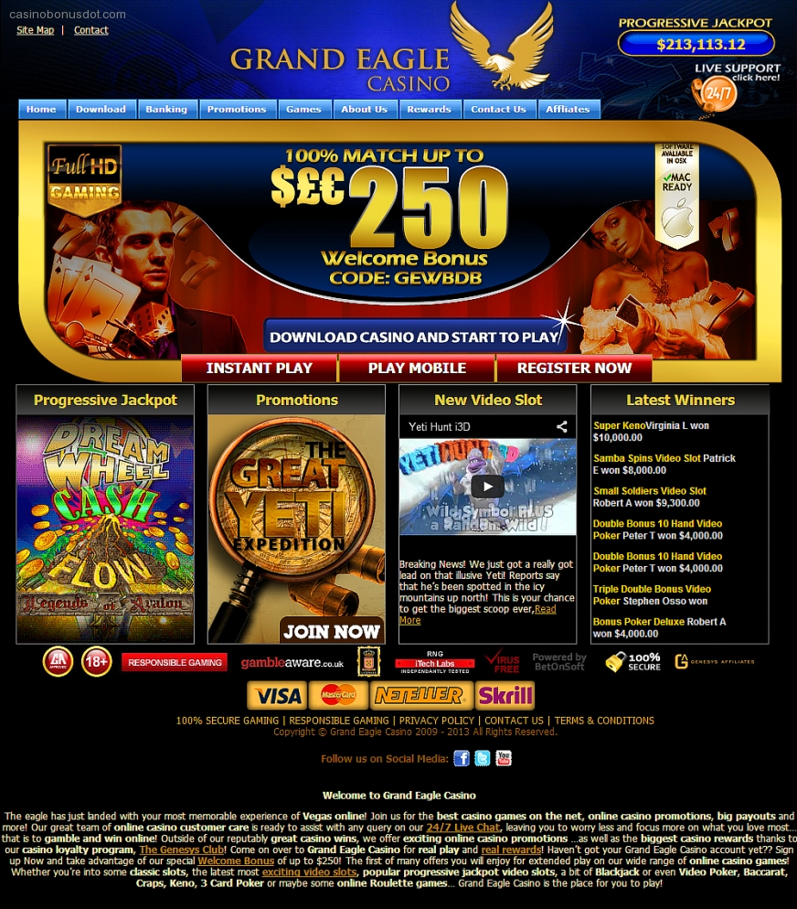 grand eagle casino no deposit bonus